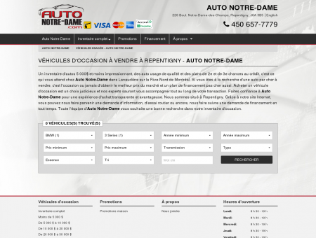Bmw 3 Series Usagé à vendre - Auto Notre...