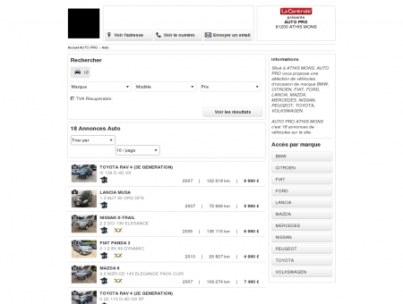 AUTO PRO : Voiture occasion ATHIS MONS -...