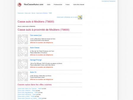 Casse auto Moûtiers - 73600 - Avis casses...