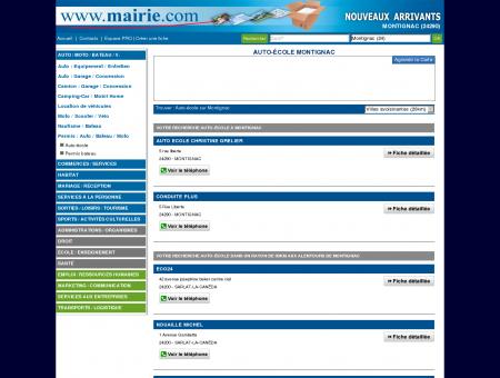 Auto-école Montignac - Mairie.com - Le site...