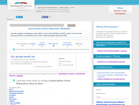 Automobile / vente - réparation à Miradoux...