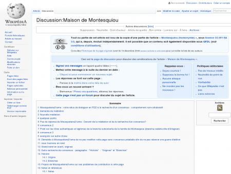 Discussion:Maison de Montesquiou ...