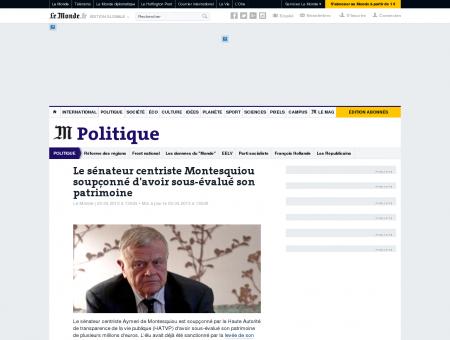 Le sénateur centriste Montesquiou soupçonné...