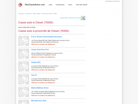 Casse auto Oissel - 76350 - Avis casses autos...