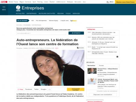 Auto-entrepreneurs. La fédération de l'Ouest lance son centre de formation