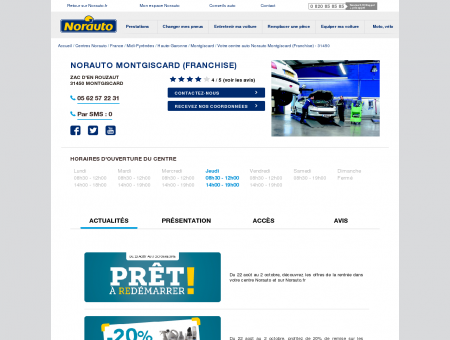 Norauto Montgiscard (Franchise) - Centres...