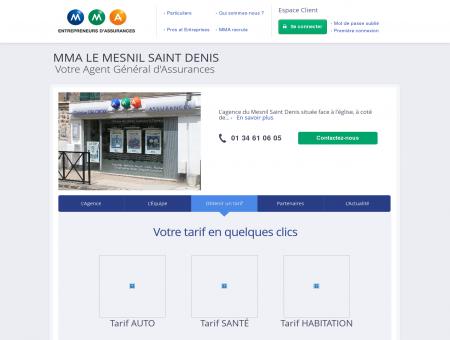 Assurances MMA - LE MESNIL SAINT DENIS -...
