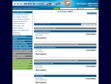 Auto-école Lombez : Mairie.com