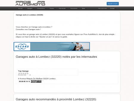 Garages auto à Lombez (32220) - Pros...
