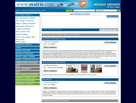 Auto-école Le Pecq - Mairie.com - Le site...