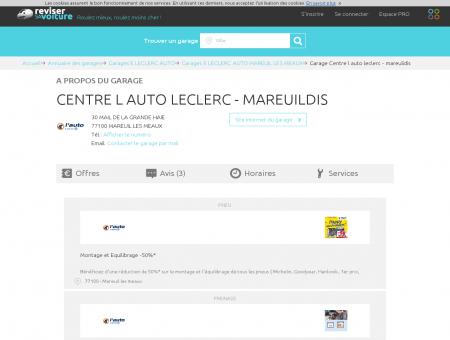 Garage - CENTRE L AUTO LECLERC - MAREUILDIS