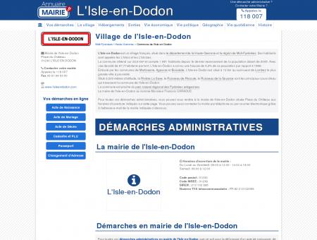 Mairie de l'Isle-en-Dodon, la Commune de...