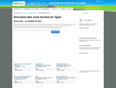 Auto-école : Les auto-écoles à LE GOSIER...