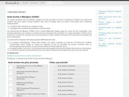 Auto-écoles à Margaux (33460)