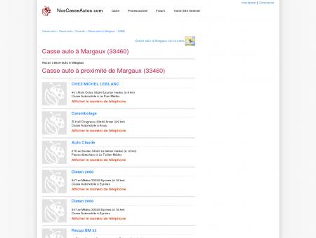 Casse auto Margaux - 33460 - Avis casses...