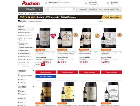 Vin Margaux à prix Auchan et pas cher -...