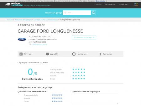 GARAGE FORD LONGUENESSE -...