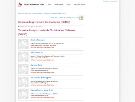 Casse auto Corbère les Cabanes - 66130 - Avis...