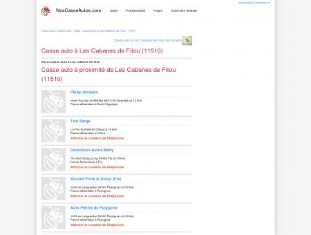 Casse auto Les Cabanes de Fitou - 11510 -...