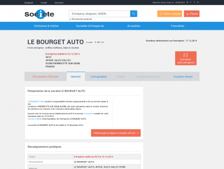 LE BOURGET AUTO (PIERREFITTE SUR SEINE)...