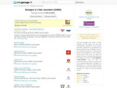 Garage L'Isle-Jourdain (32600) - Comparatif...