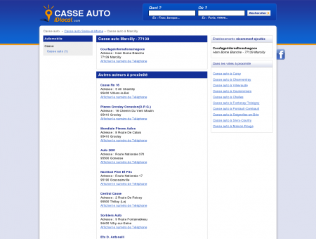 Casse auto Marcilly - idlocal