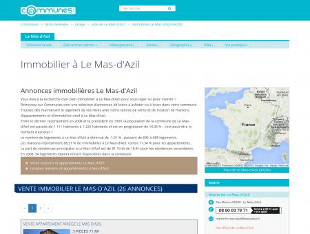 Immobilier Le Mas-d'Azil , Ariège : annonces ...