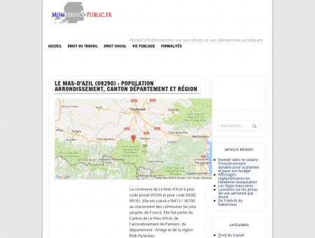Le Mas-d'Azil : population, arrondissement,...