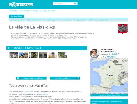 Mairie Le Mas-d'Azil, informations sur la ville...