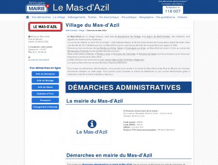 Mairie du Mas-d'Azil, la Commune du Mas...