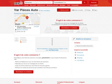 Var Piéces Auto - Accessoires auto & pièces...
