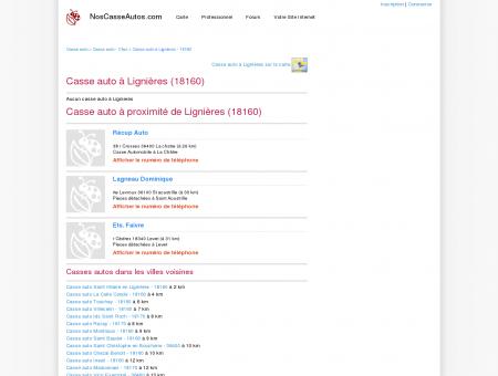 Casse auto Lignières - 18160 - Avis casses...