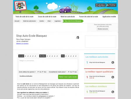 Stop Auto-Ecole Blasquez (LIGNIERES 18160) ::...