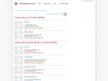Casse auto La Trinité - 06340 - Avis casses...
