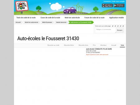 Auto-école LE FOUSSERET (31430) :: Avis et...
