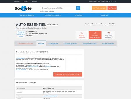 AUTO ESSENTIEL (LABASTIDE ROUAIROUX)...