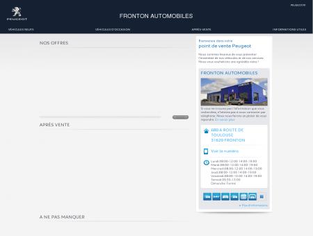 FRONTON AUTOMOBILES, Votre point de...