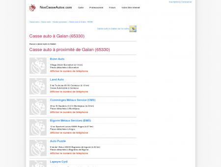 Casse auto Galan - 65330 - Avis casses autos...