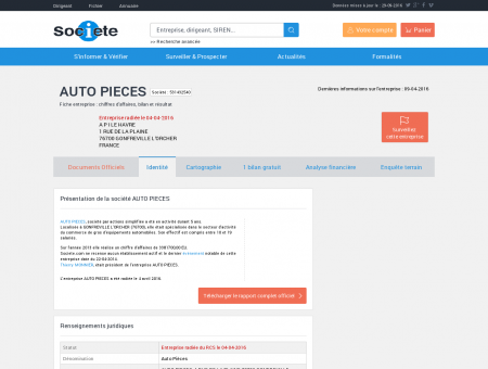 AUTO PIECES (GONFREVILLE L'ORCHER)...