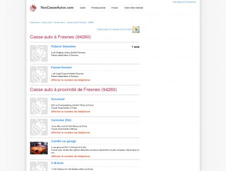 Casse auto Fresnes - 94260 - Avis casses...