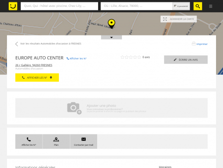 EUROPE AUTO CENTER Fresnes (adresse,...