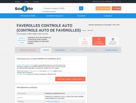 FAVEROLLES CONTROLE AUTO (FAVEROLLES...