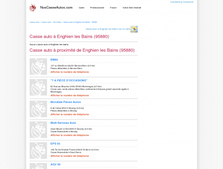 Casse auto Enghien les Bains - 95880 - Avis...
