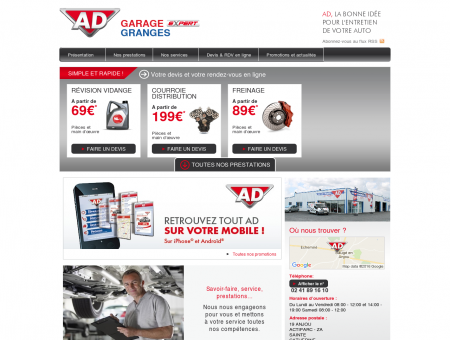 Garage GRANGES - Accueil - AD Auto ...