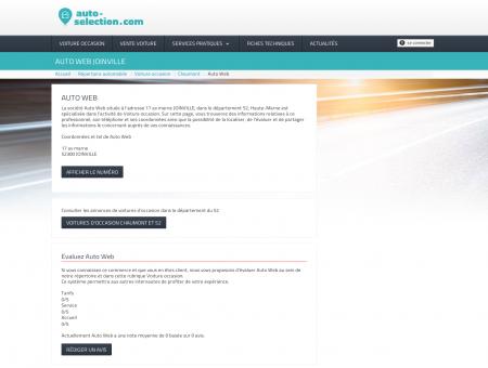 Auto Web Voiture occasion à JOINVILLE -...