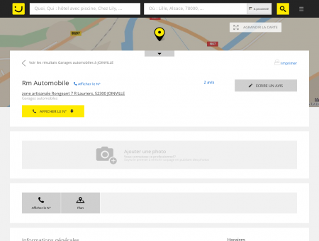 Rm Automobile Joinville (adresse, horaires, avis)
