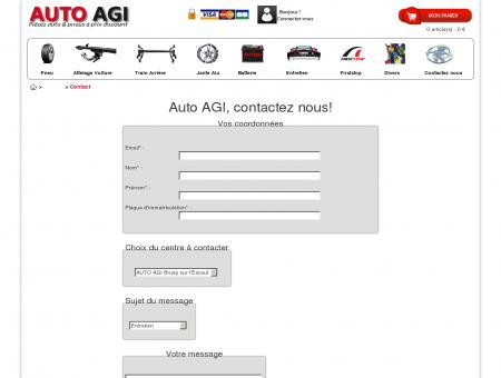 AUTO AGI - formulaire de contact - Pneu pas...