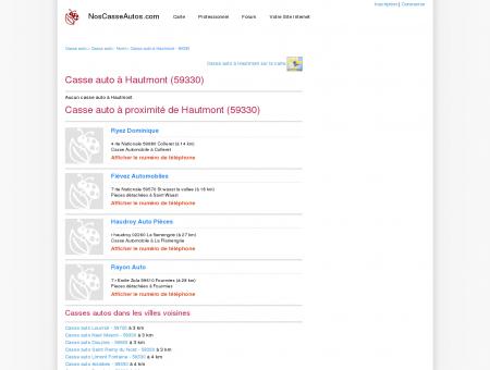 Casse auto Hautmont - 59330 - Avis casses...
