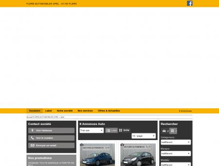FLERS AUTOMOBILES OPEL : Concessionnaire...