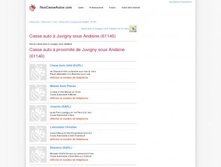 Casse auto Juvigny sous Andaine - 61140 -...